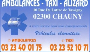 AMBULANCES TAXIS ALIZARD